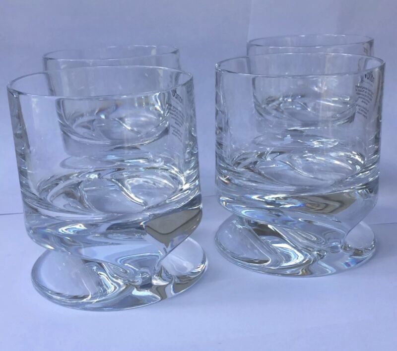 Nambe Grove Double Old Fashion Glasses