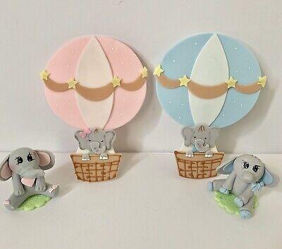 Elephant Cake Topper (Elephant  Cake Topper And Hot Air Balloon Baby)