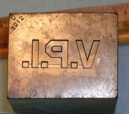 WWI 1918 VPI Blacksburg VA VIRGINIA TECH Collar Pin Stamping Die * MC LILLEY
