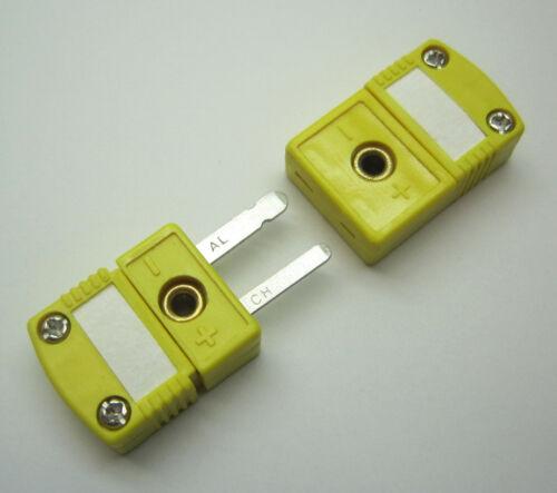 Premium Quality Miniature Mini K-Type Thermocouple Sensor Connector Set M/F
