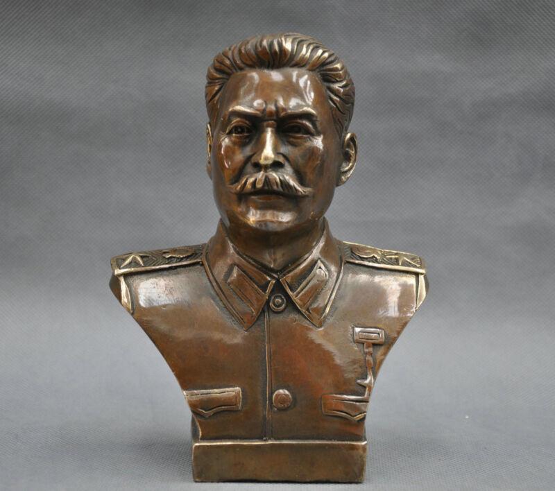 Russian Leader Joseph Stalin Bust Bronze Statue