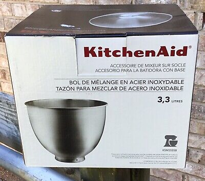 KitchenAid Stainless Steel Artisan Mini Mixer Replacement Bowl - 3.5Qt. Capacity