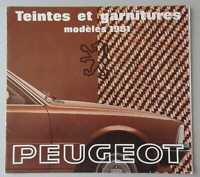 S005 PEUGEOT 104 305 505 604 - COLOR BOOK - 1981 - 20x22 - FR