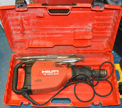Hilti Te 1000-avr Demolition Hammer W Case And Bits