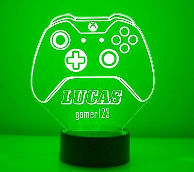 XBox Personalized LED Gaming Room XBox One Controller Night Light Lamp, used for sale  Shipping to India