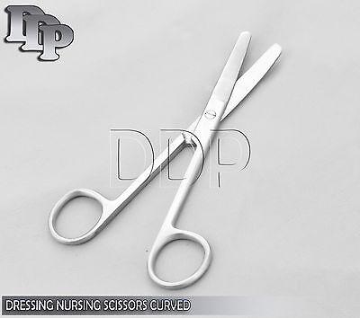 Dressing Nursing Surgical Scissors 4.5 Blunt Blunt Curved