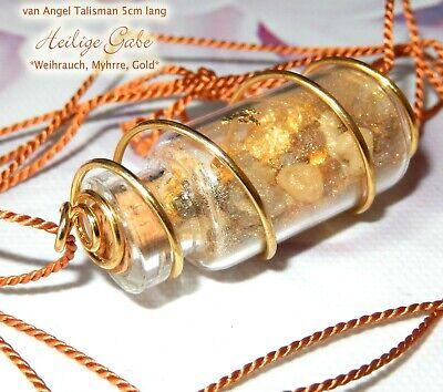 Schutz Amulett *Heilige Gabe* Weihrauch Gold Gott Talisman Natur Wicca Auto Neu