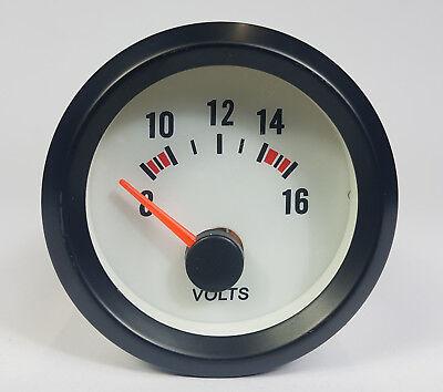 52mm Smoked Face Volt Meter - Voltage gauge Black Bezel Blue Light No Logo