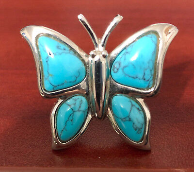 Blue Butterfly Designs (Steel by Design Blue Glass Butterfly Ring Size)