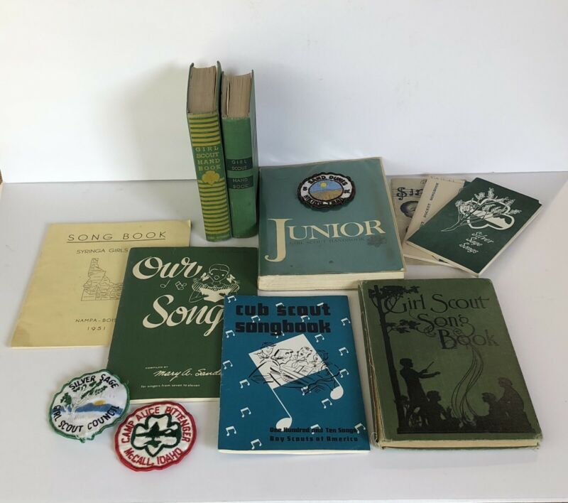 Vintage Girl Scout Handbooks / Song Books Patches 1920s - 1970s