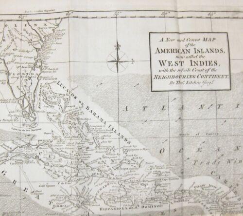 1762 LONDON MAGAZINE September MAP AMERICA FLORIDA TEXAS SOUTH CAROLINA CUBA &c.