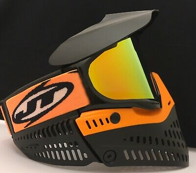 NEW JT Proflex Paintball Goggle Mask Orange Black Thermal Prism Lens KM Strap for sale  Uniontown