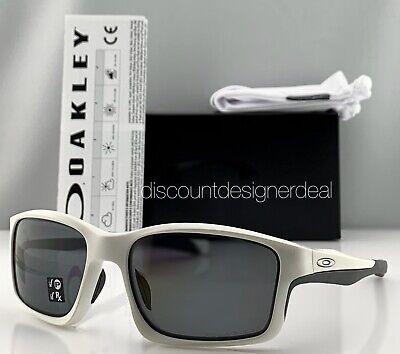Oakley Chainlink Sunglasses OO9247-07 Matte White Frame Gray Polarized Lens (Matte White Sunglasses)