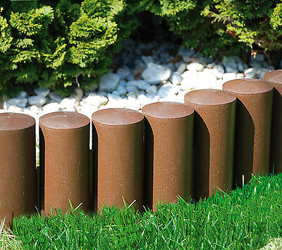 Edge Lawn Edging (Very Strong Garden fence lawn edging border edge palisade fencing plastic)