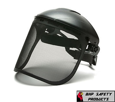 Pyramex S1060 Black Steel Mesh Safety Face Shield 8x15.5 Ansi Z87.1 Woodwork