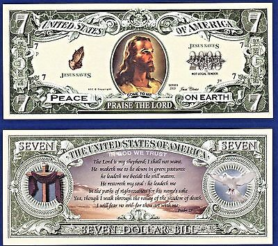 Praise Lord Jesus Christ (2-CHRISTIAN PRAISE THE LORD JESUS CHRIST DOLLAR BILLS  Collectible- -MONEY-K2 )