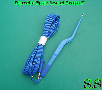 Disposable Bipolar Bayonet Forceps 6 Electrosurgical Instruments El-034