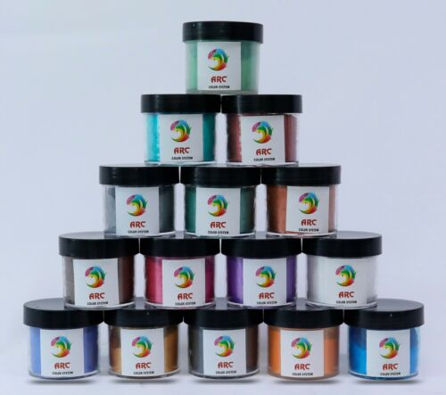 15COLORX15g Metallic Mica Powder Pigment SET Epoxy Resin Dye Art&Craft, Jewelery
