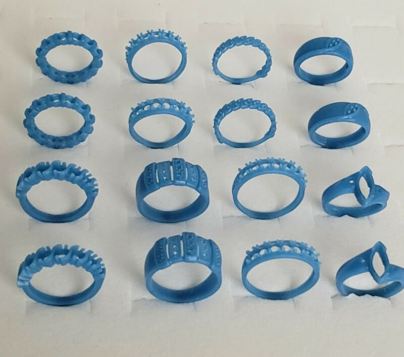 Lot of 16 Rings, mix. Mostly Bands. Wax Patterns for lost wax casting 21-131