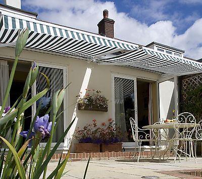 Elektrische Halbkassettenmarkise Sonnenschutz für Garten, Terrasse und Balkon