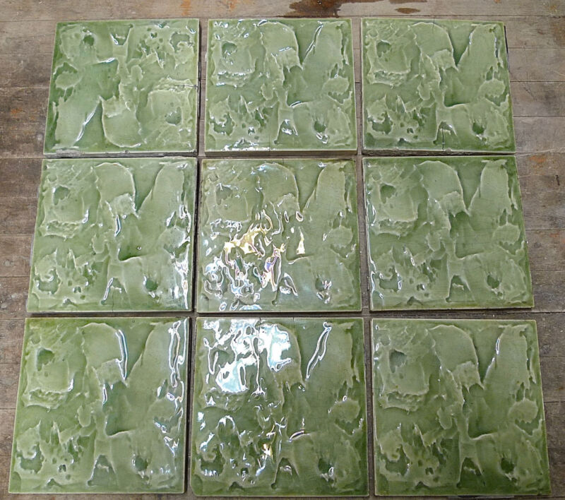 Antique Tile Set of 9 Cambridge Tile Co.