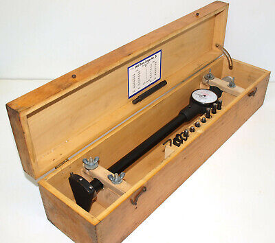 Standard 5 Dial Bore Gage Set 3.09-8 With 12 Reach. Excellent Condition