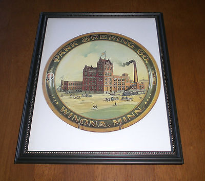 PARK BREWING COMPANY FRAMED COLOR AD PRINT - WINONA, MINNESOTA