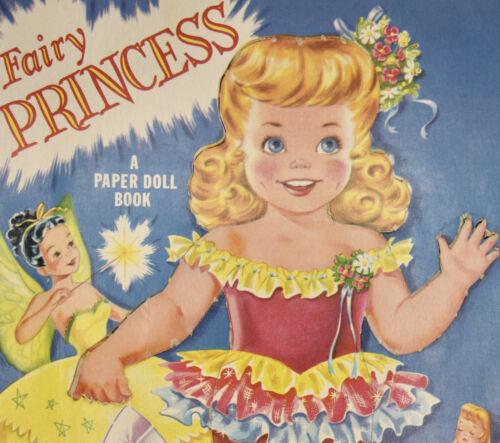 Fairy Princess Paper Cut Out Doll Cinderella 1950s Vintage