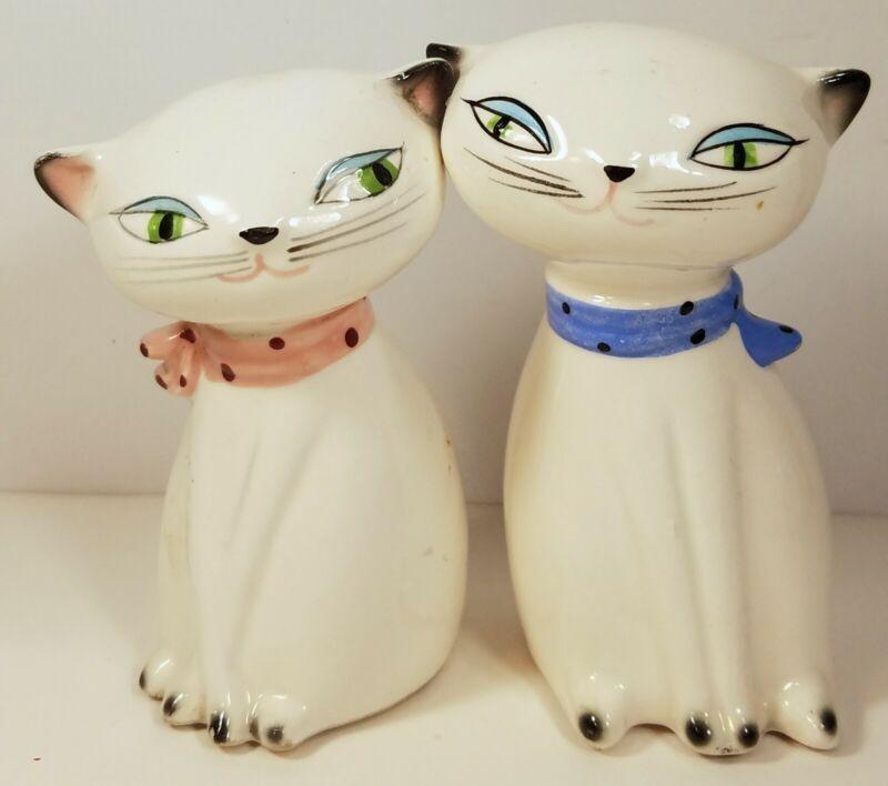 Vintage Holt Howard Cozy Kitten Cat Salt Pepper Shakers Mid Century Modern