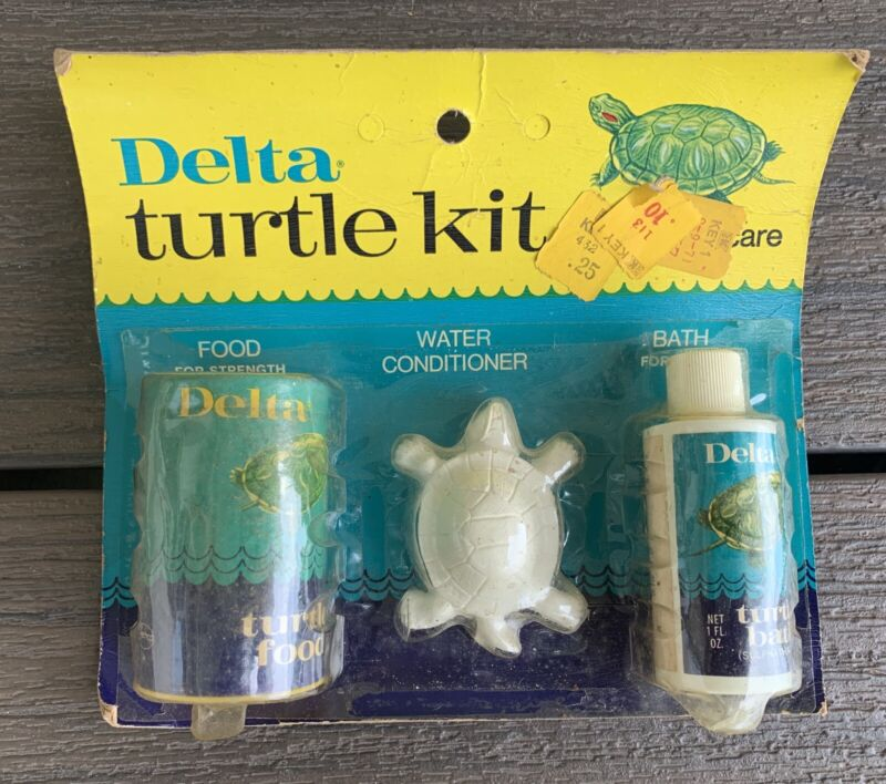 Vtg 60s 70s Delta TURTLE KIT Food PET Store COLLECTIBLE NOS New