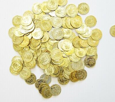 Party Treasure Chest - 50 PLASTIC GOLD COINS PIRATE TREASURE CHEST  PLAY MONEY BIRTHDAY PARTY FAVORS