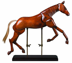 Large Articulated Wooden Artist Horse Sculpture ~ Authentic Models ~ New