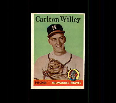 1958 Topps 407 Carlton Willey Rc Ex  D448620