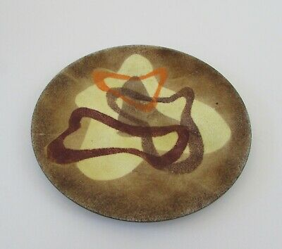 Vintage Copper and Enamel Dishes made by Aroha Enamelware Auckland featuring M\u0101ori Design Motifs based on ancient rock art drawings NZ