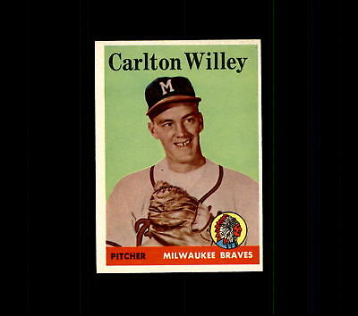 1958 Topps 407 Carlton Willey Rc Ex  D448616