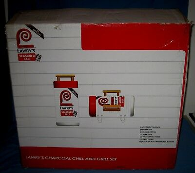 NEW Lawry's Seasonings Portable Charcoal Grill/Cooler Advertising BBQ