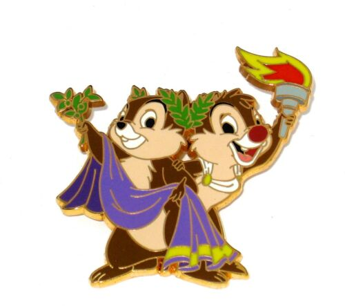 RARE LE Disney Pin ✿ Chip & Dale Olympic Series Greek Games Toga Torch Classic