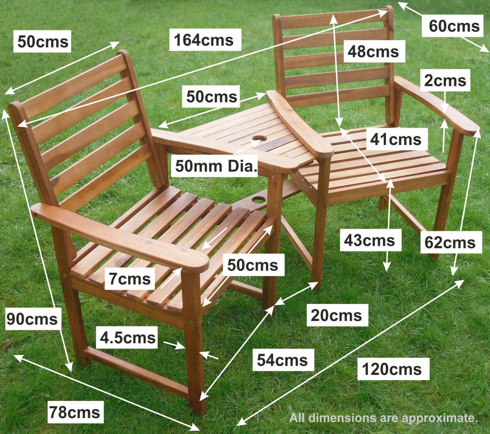 Set Hardwood Garden Bench Corner Love Seat Jack And Jill 2 • £79.94. Full resolution‎  photo, nominally Width 1600 Height 1416 pixels, photo with #6D4420.
