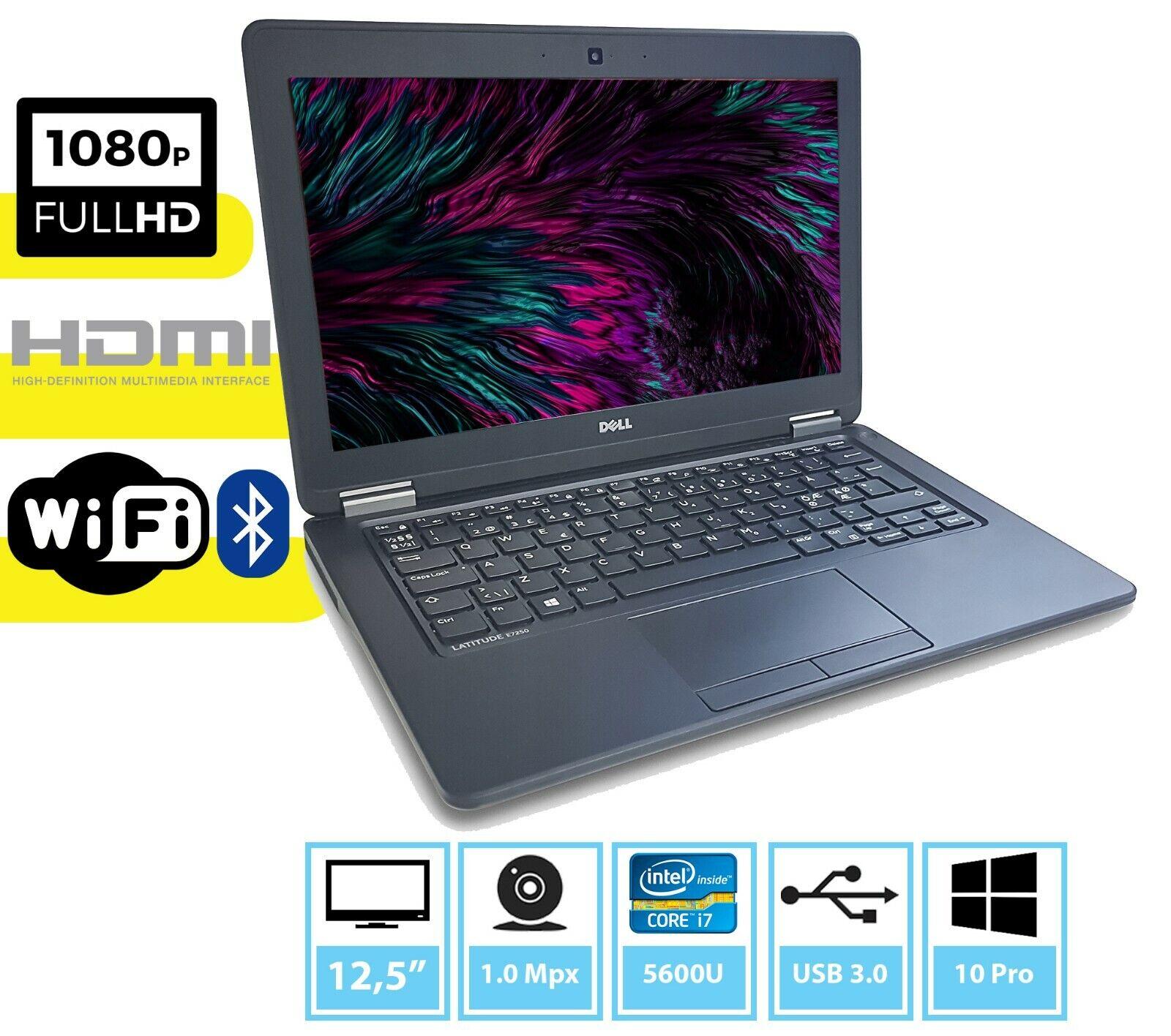 Einzigartig UltraBook Dell e7250 Core  i7-5600U SSD HDMI KAM WIN 10 PRO
