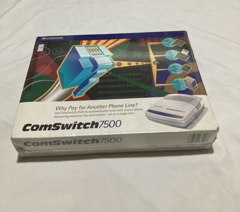NEW ComSwitch 7500 Command Communications Line Sharing Answering Machine, Fax,