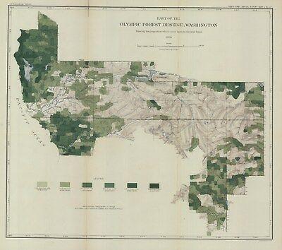 c1895United States Geological Survey:Olympic Forest Reserve Washington-Original