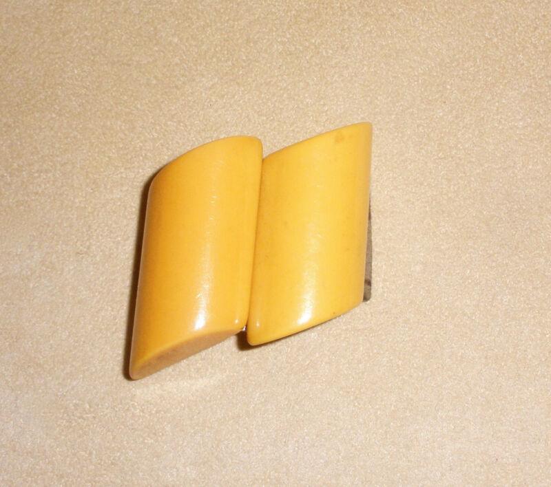 Art Deco Style Golden Butterscotch Bakelite Buckle