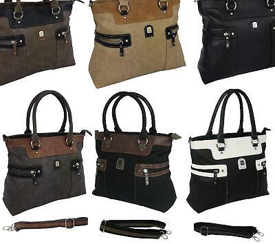 Schultertasche Handtasche (Neu Damentasche Bag Handtasche Shopper Schultertasche Tragetasche 1896*****)