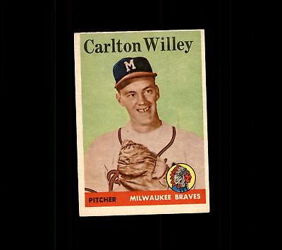 1958 Topps 407 Carlton Willey Rc Vg Ex  D444120