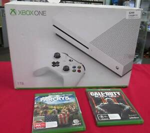 MICROSOFT XBOX ONE S 1TB WHITE CONSOLE PLUS 2 GAMES Miller Liverpool Area Preview