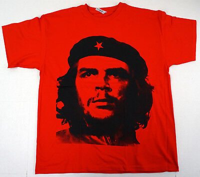 Revolution T-shirt Che Guevara Tee Adult Men Red New