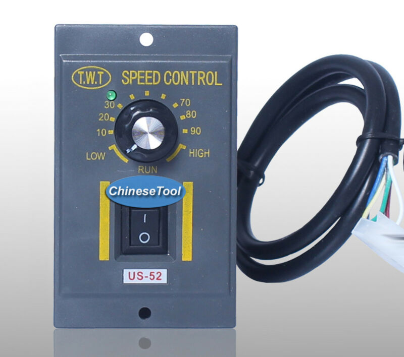 1Pc 120W 220V ~ 240V AC 6 Terminals Motor Speed Control Switch US-52