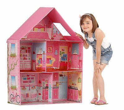 BARBIE DOLLHOUSE Girl Play Room Set Pink Modern Doll Dream House
