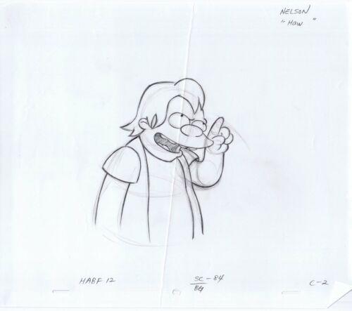 "Simpsons Nelson ""Haw"" Original Art Animation Production Pencils HABF12 SC-84 C-2"