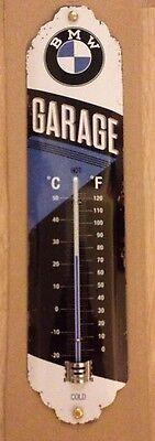 NEU! BMW Garage Thermometer 28x7cm Blechschild Werbeschild Schild Deko Auto